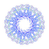 circular pattern yellow blue on a white. vector illustration