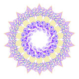 circular star purple pattern on a white. vector illustratoration