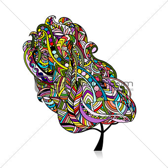 Abstract zenart tree for your design