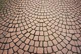 Stone paving pattern.
