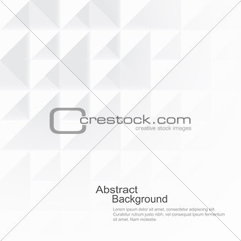 Abstract background with white shapes