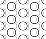 Seamless pattern of paper circles.