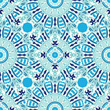 Seamless pattern. Geometric ornament.