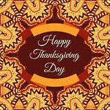 happy thanksgiving invintation frame