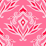 luxury pink damask seamless pattern