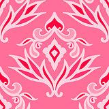 luxury pink damask seamless pattern