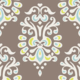 Luxury Damask flower seamless pattern design