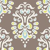 Luxury Damask flower seamless pattern design