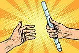 transfer relay baton sports