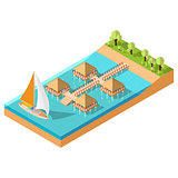 Bungalow Vector Isometric