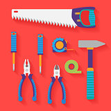 Vector flat set of tools