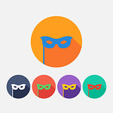 set vector flat  carnival masks