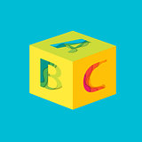 Letter ABC cube template