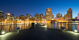 Night panoramic view of San Francisco. Cityscape from Pier 14