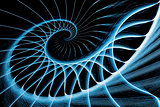 spiral staircase blue on black