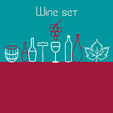 Wine elements set