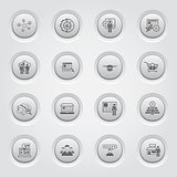 Button Design Business Icons Set.