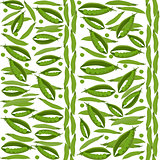 Green peas seamless pattern, vegetable background