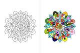 Mandala ornament, hand made sketch for your design