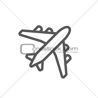 Black plane outline