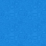 Blue Line Internet of Things Seamless Pattern