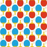 Flat Seamless Sport Tennis Ping Pong Pattern