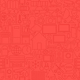 Thin Home Technology Seamless Red Pattern