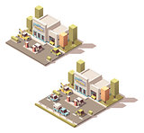 Vector isometric car Service