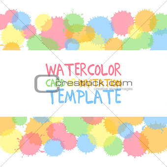 Watercolor card template