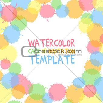 Watercolor card template