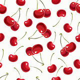 Seamless pattern with berry cherry.