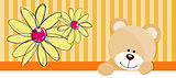 Teddy bear flower banner