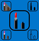 lipstick icons set