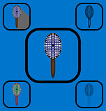 Comb icons set 2