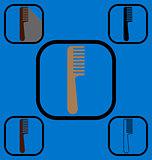 Comb icons set 1