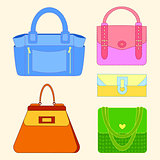 Women's bag vector.