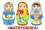 Matryoshka russian dolls vector illustration