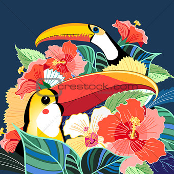 Toucans of paradise and plants