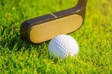 shoting a golf ball