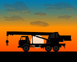 truck crane for lifting of building materials