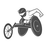Paralympic games. The athlete in the wheelchair.