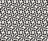 Vector Seamless Black and White Geometric Star Lattice Pattern