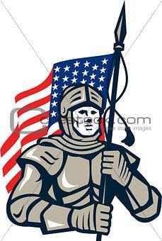 Knight Holding USA Flag Retro