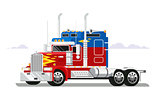 Fura truckers flat design