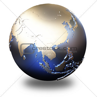 Asia on metallic Earth