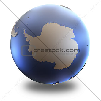 Antarctica on metallic Earth