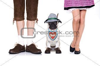 bavarian dog and owner