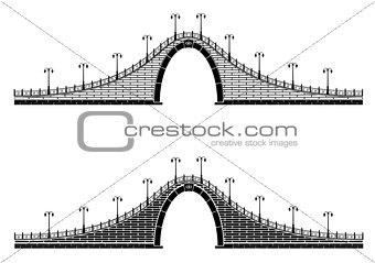 an ancient stone arch bridge