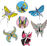 Butterflies and Moths Set