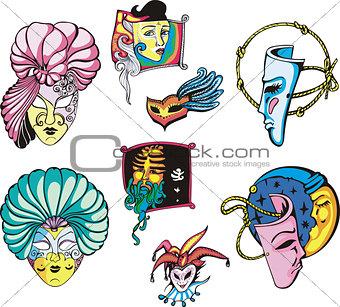 Carnival Masks Set